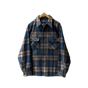 """[DEAD〜MINT] 70's """"PENDLETON"""" OPEN COLLAR WOOL SHIRTS made in USA (L)"""