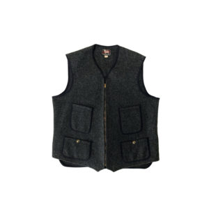 """[MINT] 50's """"WOOLRICH"""" HUNTING WOOL ZIP VEST made in USA (42)"""
