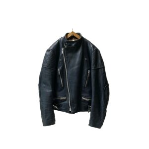 """70's """"WOLF LEATHERS"""" MONZA STYLE LEATHER JKT made in ENGLAND [40]"""