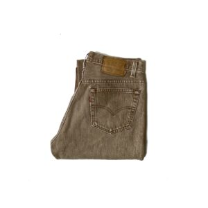 """90's """"LEVI'S / 501"""" FADED BROWN DENIM PANTS made in USA [33×34]"""