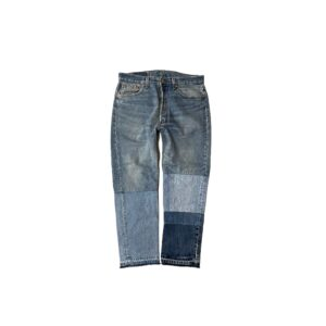 """90's """"LEVI'S / 501"""" REMAKE DENIM PANTS made in USA (34×30)"""