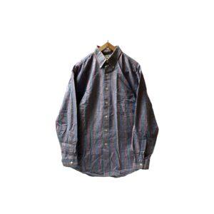 "〜80's ""L.L.BEAN"" MULTI STRIPE CHAMBRAY BD SHIRTS made in USA (M)"