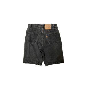"90's ""LEVI'S / 550"" BLACK DENIM SHORT PANTS made in USA (W34)"