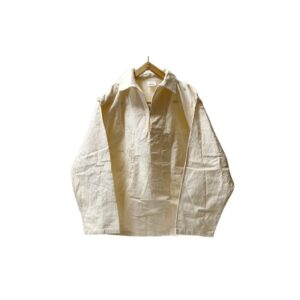 """70's """"FRENCH VINTAGE"""" COTTON CANVAS FISHERMAN SMOCK made in FRANCE"""