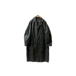 """[DEAD〜MINT] 40's """"FRENCH VINTAGE"""" BLACK CHAMBRAY COAT made in FRANCE"""