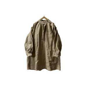 """[DEADSTOCK] 50's """"FRENCH ARMY / HM"""" HEAVY LINEN BOURGERON SMOCK (ONE WASH)"""
