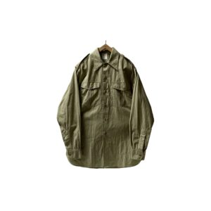 """50's """"FRENCH ARMY / M-47"""" COTTON POPLIN SHIRTS WITH GUSSET"""