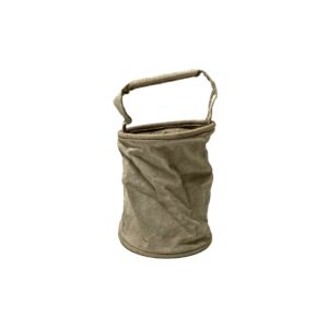 """[DEADSTOCK] VINTAGE """"FRENCH ARMY"""" COTTON LINEN CANVAS BUCKET BAG"""