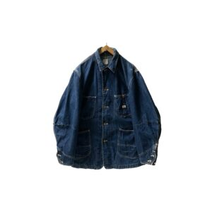 """60-70's """"LEE / 91-J"""" JELT DENIM COVERALL made in USA (38)"""