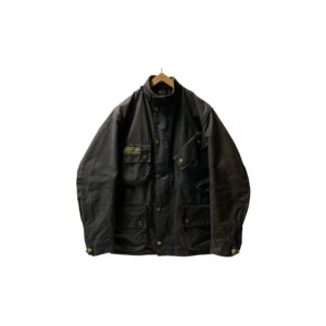 """90's """"BARBOUR / INTERNATIONAL"""" OILED JKT made in ENGLAND (C38)"""