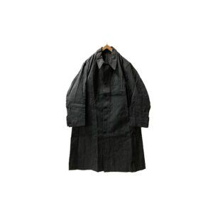 """[DEADSTOCK] 40's """"FRENCH ARMY"""" BLACK CHAMBRAY COAT made in FRANCE"""