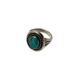 """OLD """"INDIAN JEWELRY / NAVAJO"""" SILVER × TURQUOISE RING"""